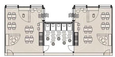 Example planning modular kindergarten for Floor prints